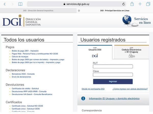 DGI Pago en línea